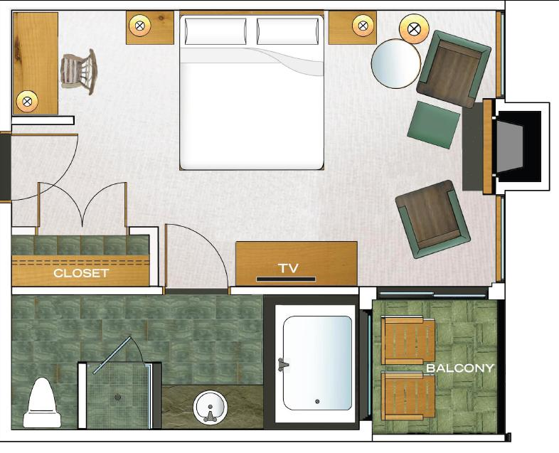 Pointe South Deluxe floorplan