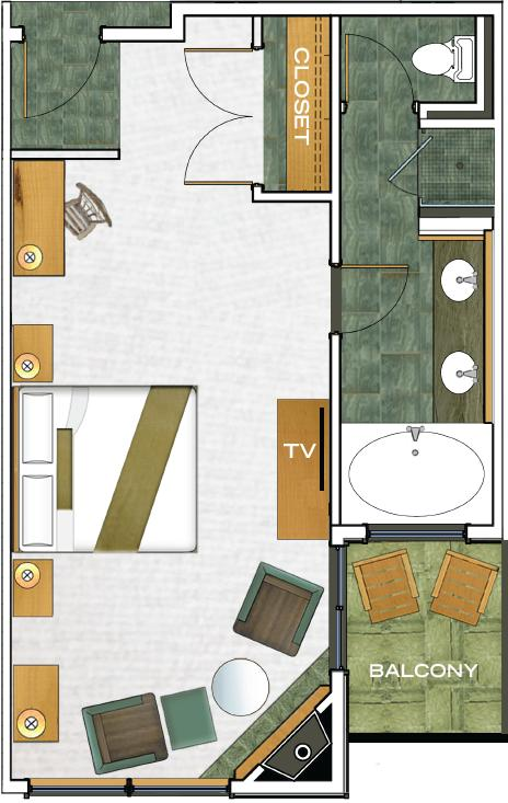 Beach Deluxe Rooms floorplan
