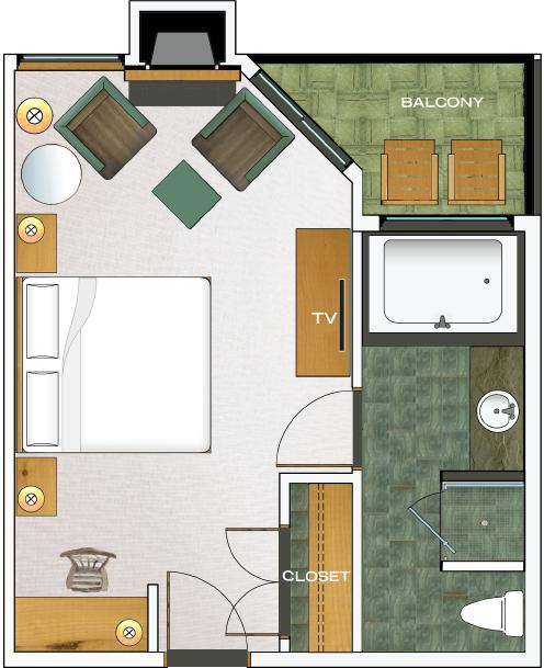 Third Floor East Deluxe floorplan