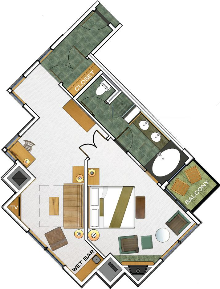 Beachcomber Suite floorplan