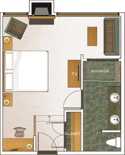 Second Floor East Deluxe floorplan