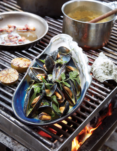 Mussles on the Fire